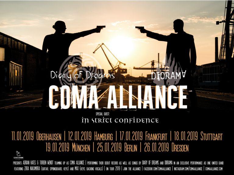 Coma Alliance Tourauftakt in Oberhausen